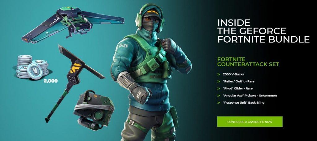 Nvidia y Epic Games traen un pack exclusivo de Fortnite
