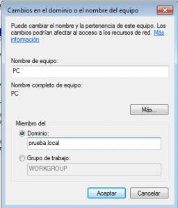 Cómo unirse a un dominio en Windows 7