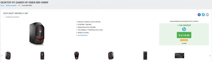 Aparece en la página web de HP la Nvidia GTX 1180