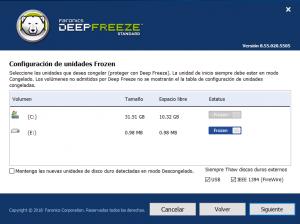 Cómo congelar un disco con DeepFreze