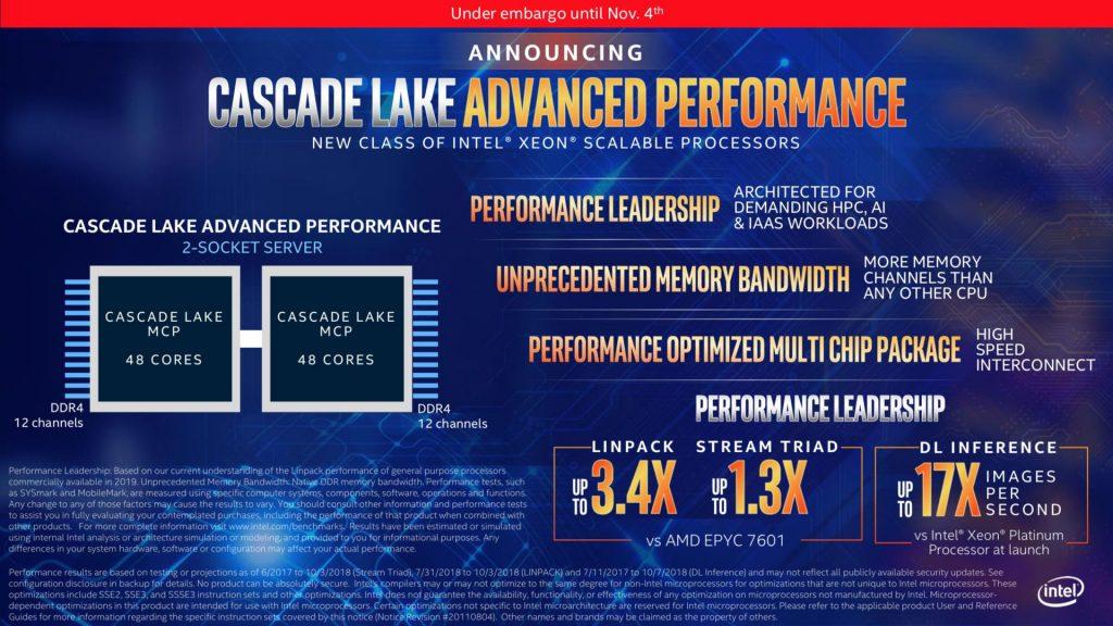 Intel Cascade Lake se lanzará en abril y vendrá seguido por el Cascade Lake X