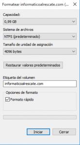 Cómo formatear un disco en Windows 10