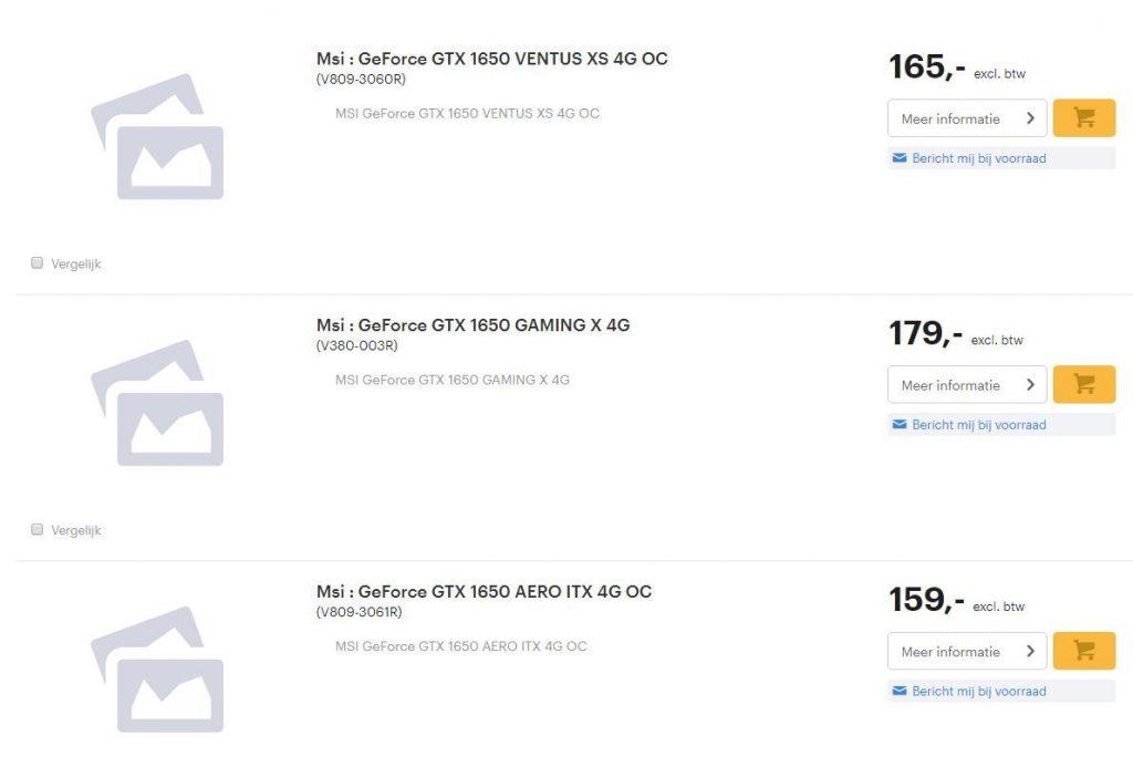 Se filtran los precios de las GPU NVIDIA GTX 1650 de MSI