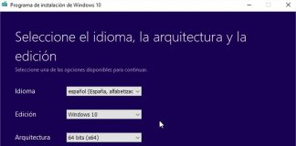 Cómo hacer ISO de Windows 10 con MediaCreationTool