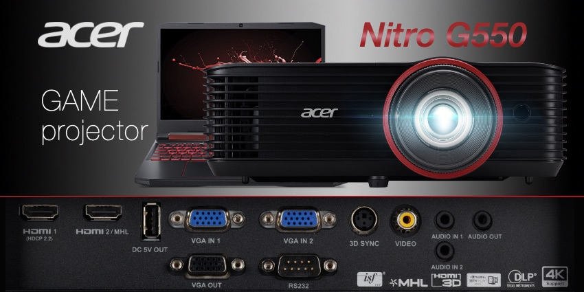 Acer presenta Nitro G550 un proyector para gamers