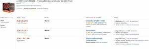 El Ryzen 9 3900X está por 700 euros en Amazon debido a stock limitado y a que se vende bien