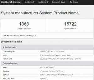 Aparece en Geekbench 5 un AMD Ryzen 9 3950X rindiendo como el Core i9-9980XE