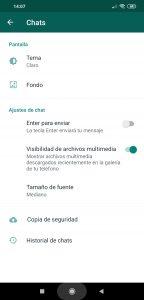 Cómo poner el modo oscuro en WhatsApp